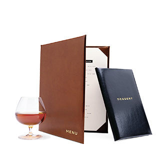 Classic Leather Menu Covers