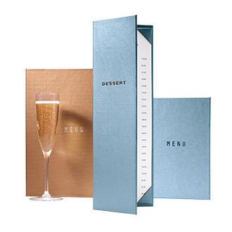 Metallic Tones Menu Covers